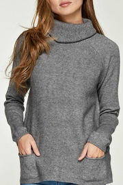 Lovestitch Pocket Turtleneck Sweater - Product Mini Image