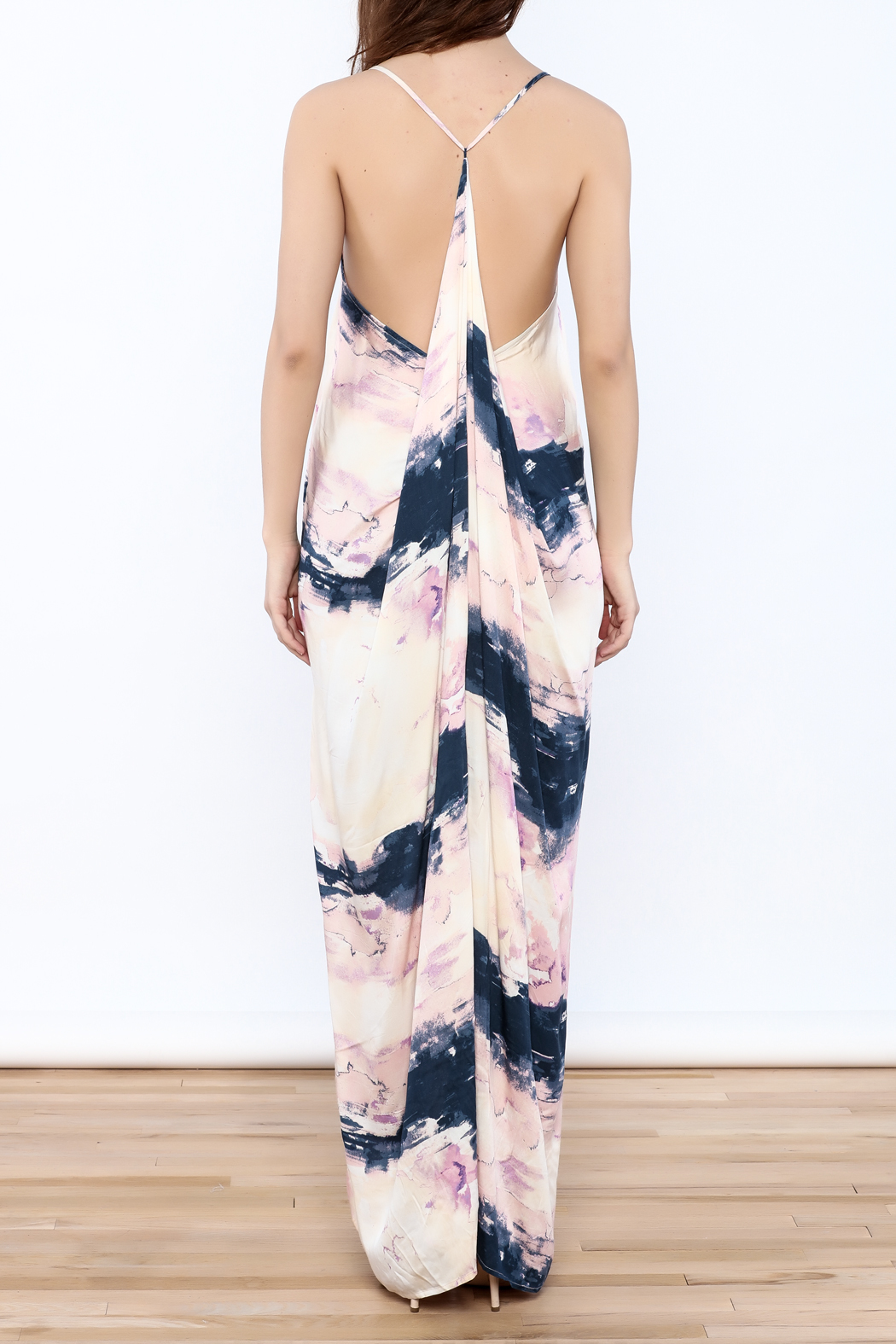 Lovestitch Prince Faded Maxi Dress - Back Cropped Image