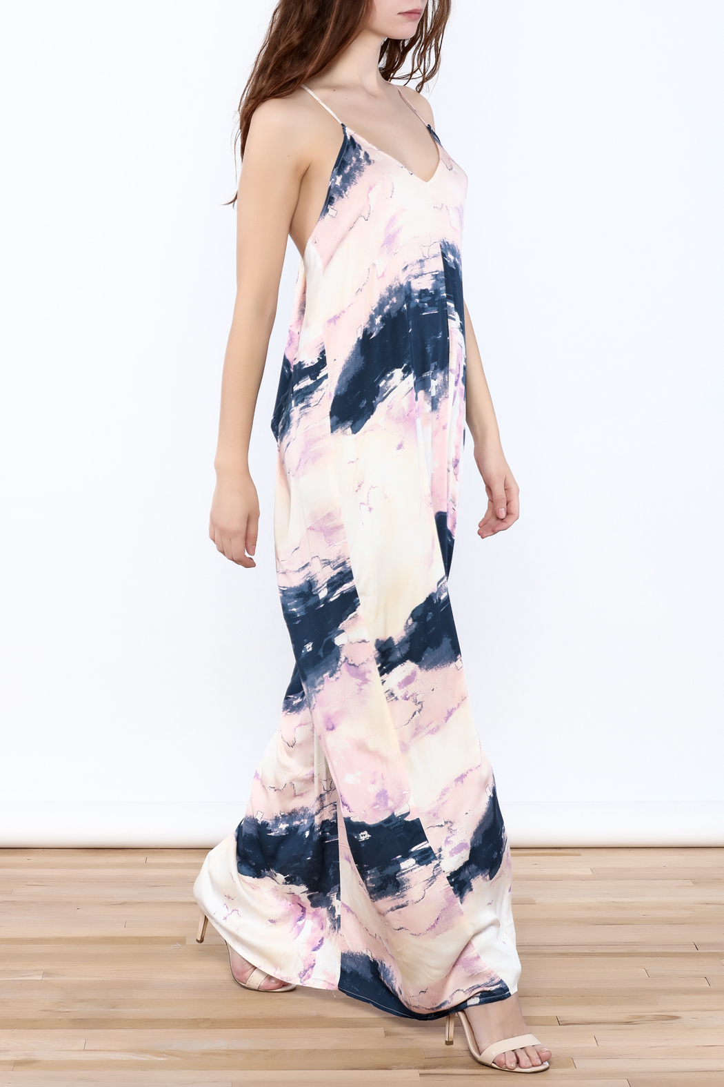 Lovestitch Prince Faded Maxi Dress - Front Full Image
