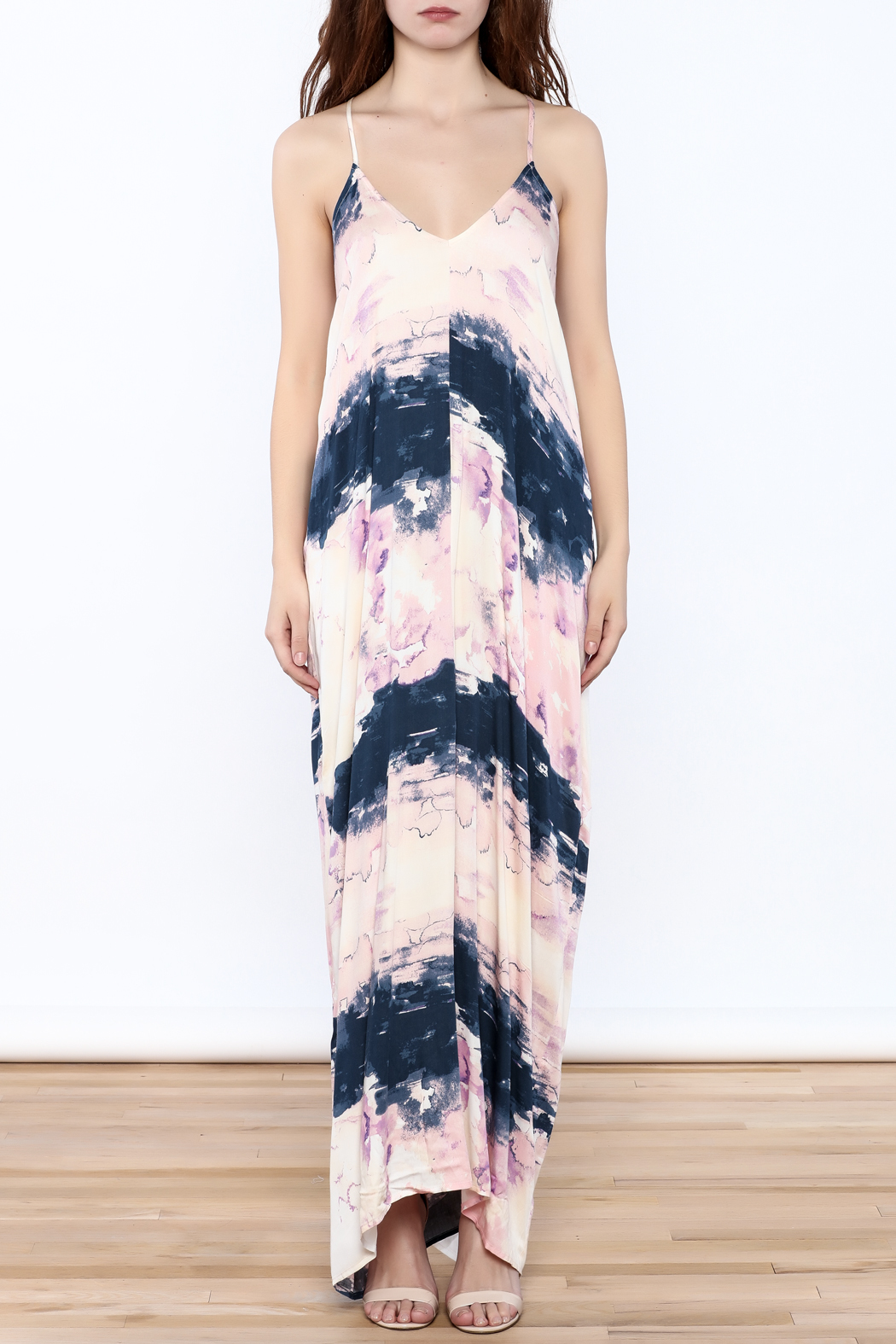 Lovestitch Prince Faded Maxi Dress - Front Cropped Image