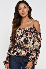 Lovestitch Printed Cold Shoulder - Front cropped