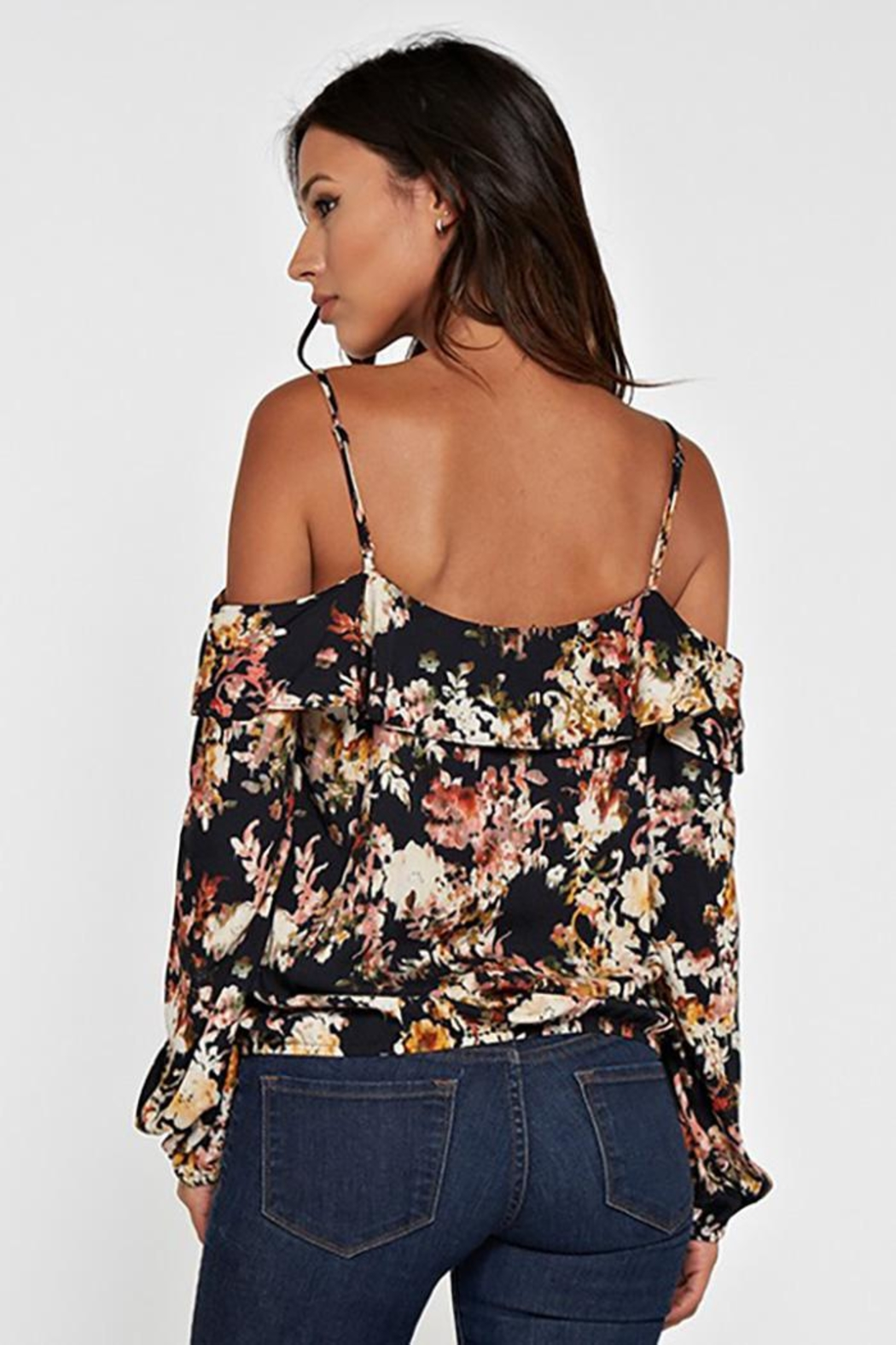 Lovestitch Printed Cold Shoulder - Front Full Image