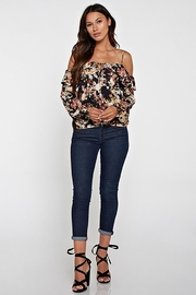 Lovestitch Printed Cold Shoulder - Back cropped
