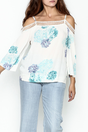 Lovestitch Printed Cold Shoulder Top - Product Mini Image