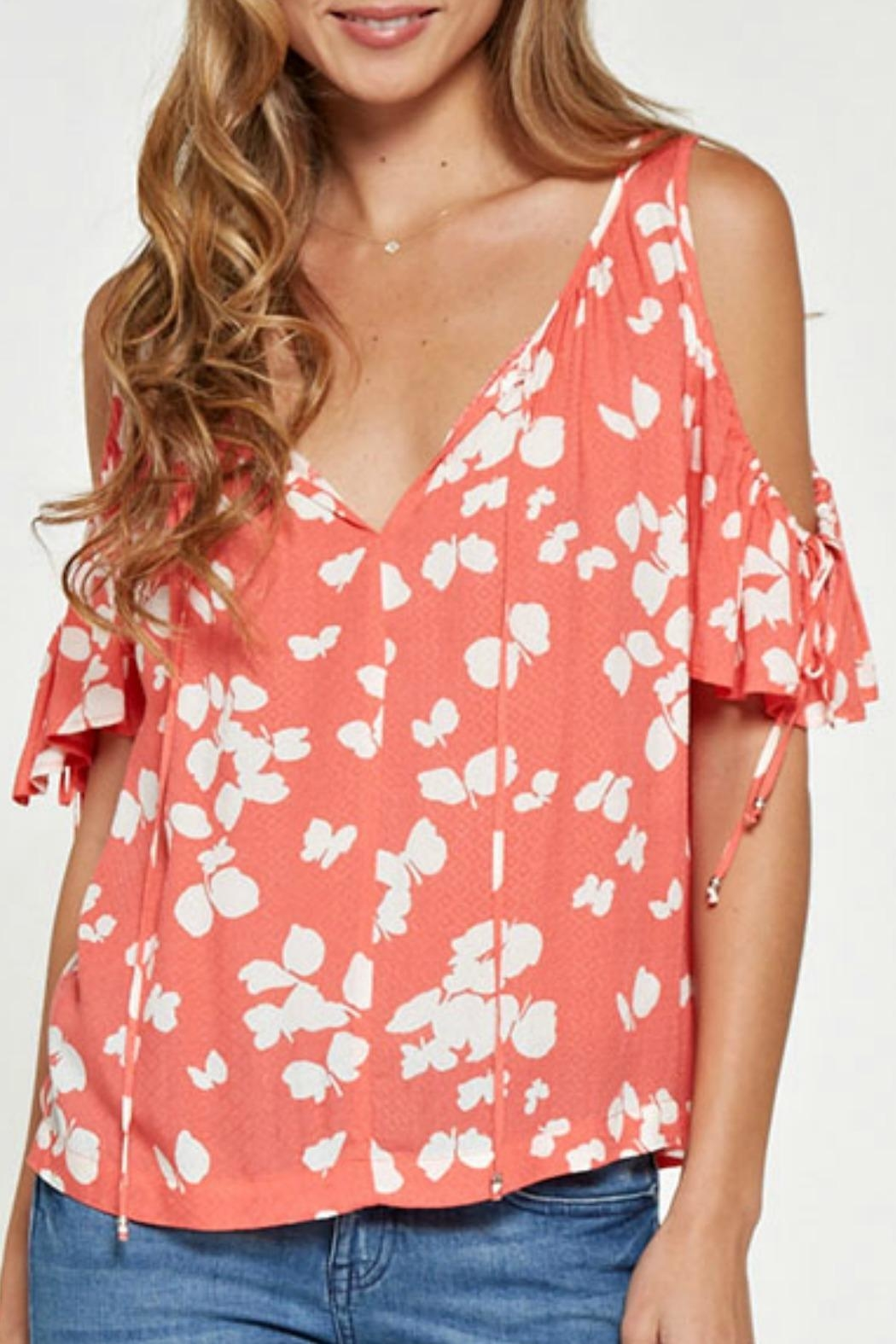 cded05eab2f Lovestitch Printed Cold Shoulder Top from California by Tu Si Bella ...