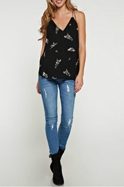 Lovestitch Printed Floral Racerback - Front cropped