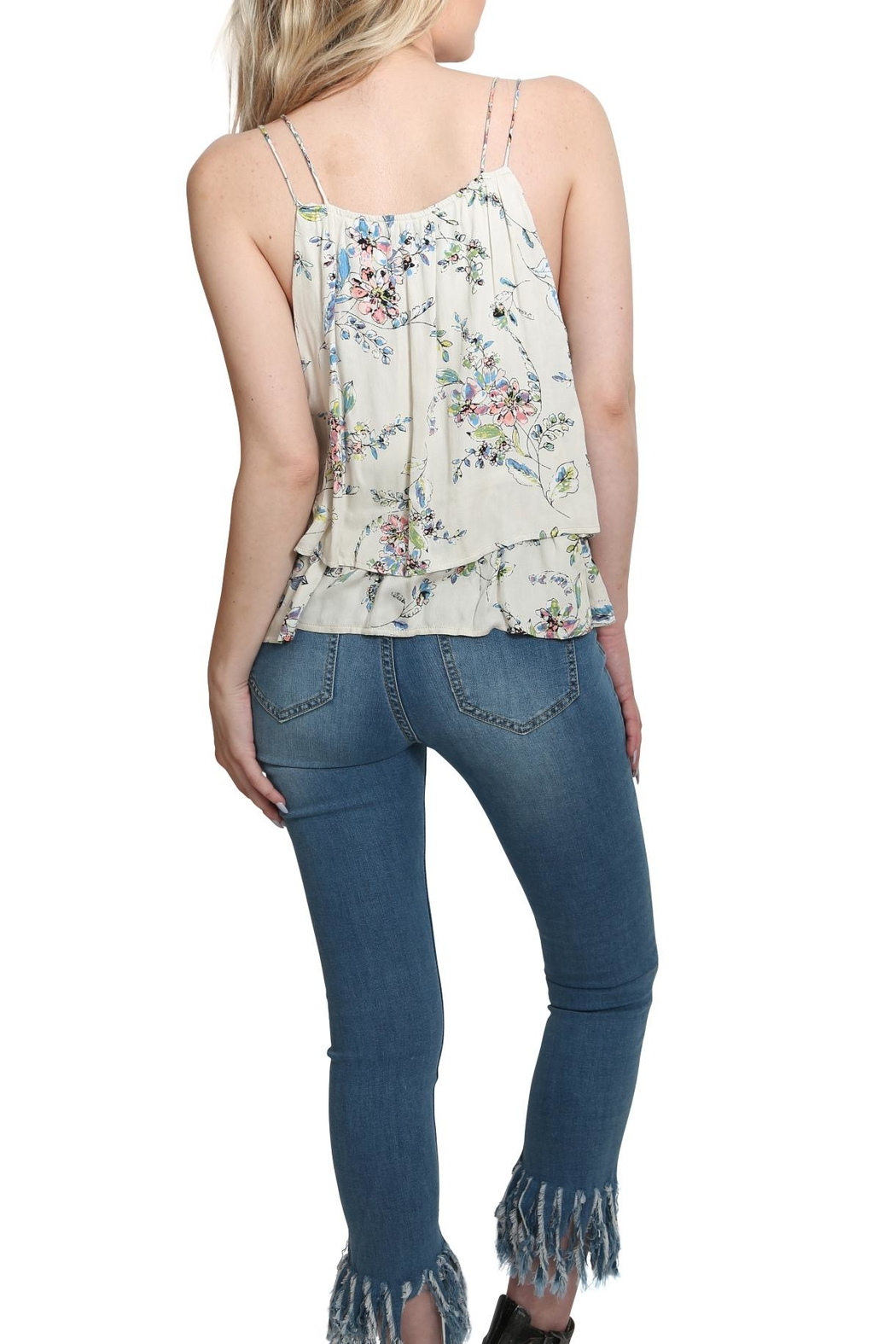 Lovestitch Printed Floral Tank Top - Side Cropped Image