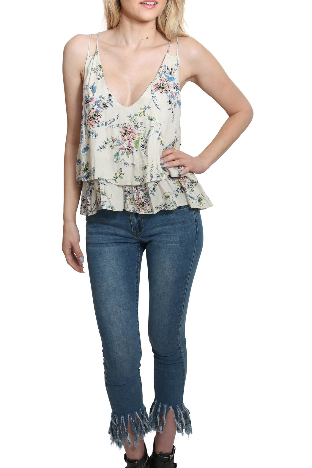 Lovestitch Printed Floral Tank Top - Main Image