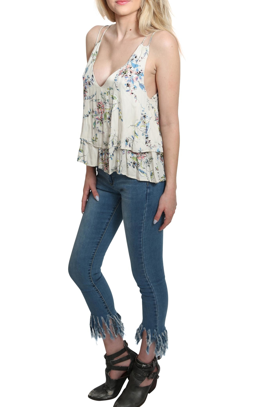 Lovestitch Printed Floral Tank Top - Front Full Image