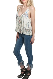 Lovestitch Printed Floral Tank Top - Front full body