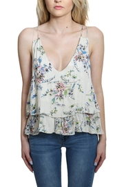 Lovestitch Printed Floral Tank Top - Back cropped