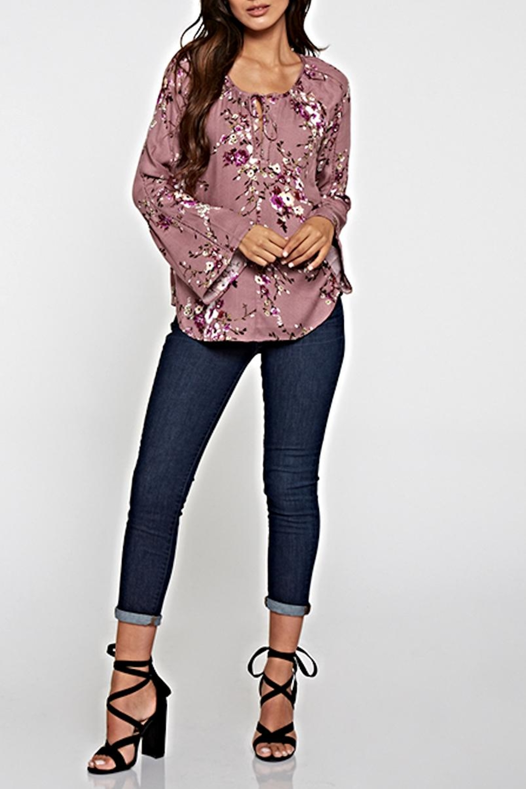 Lovestitch Printed Floral Top - Main Image
