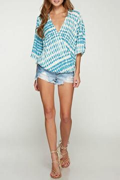 Shoptiques Product: Printed Flutter Sleeve Top