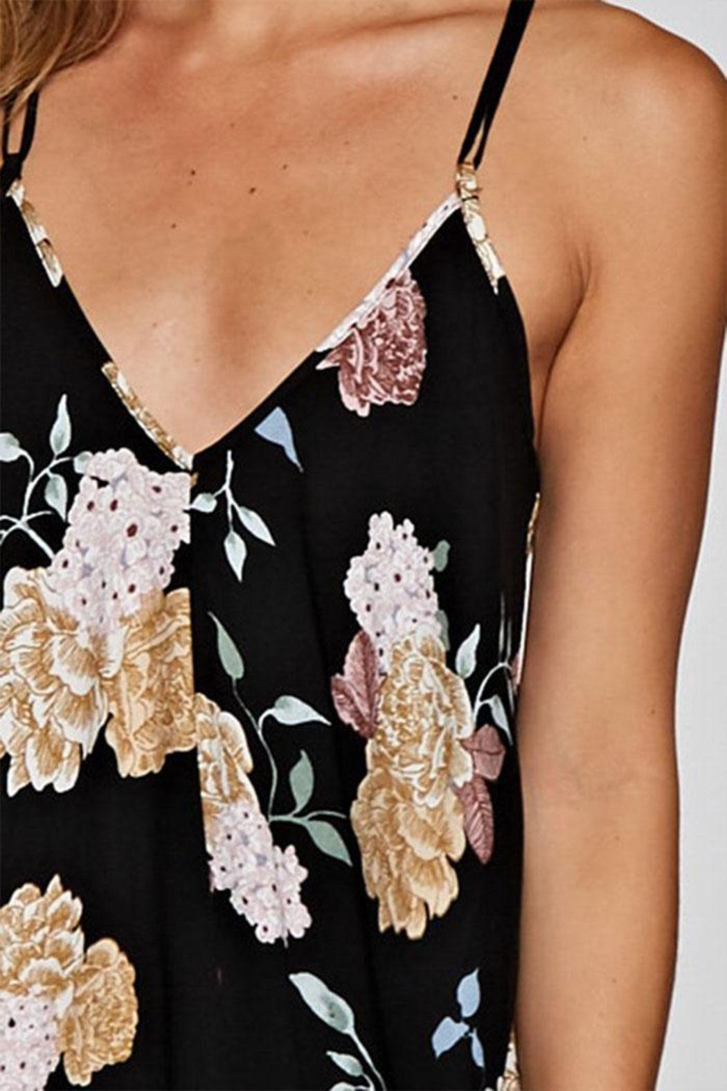 Lovestitch Printed Handkerchief Dress - Side Cropped Image