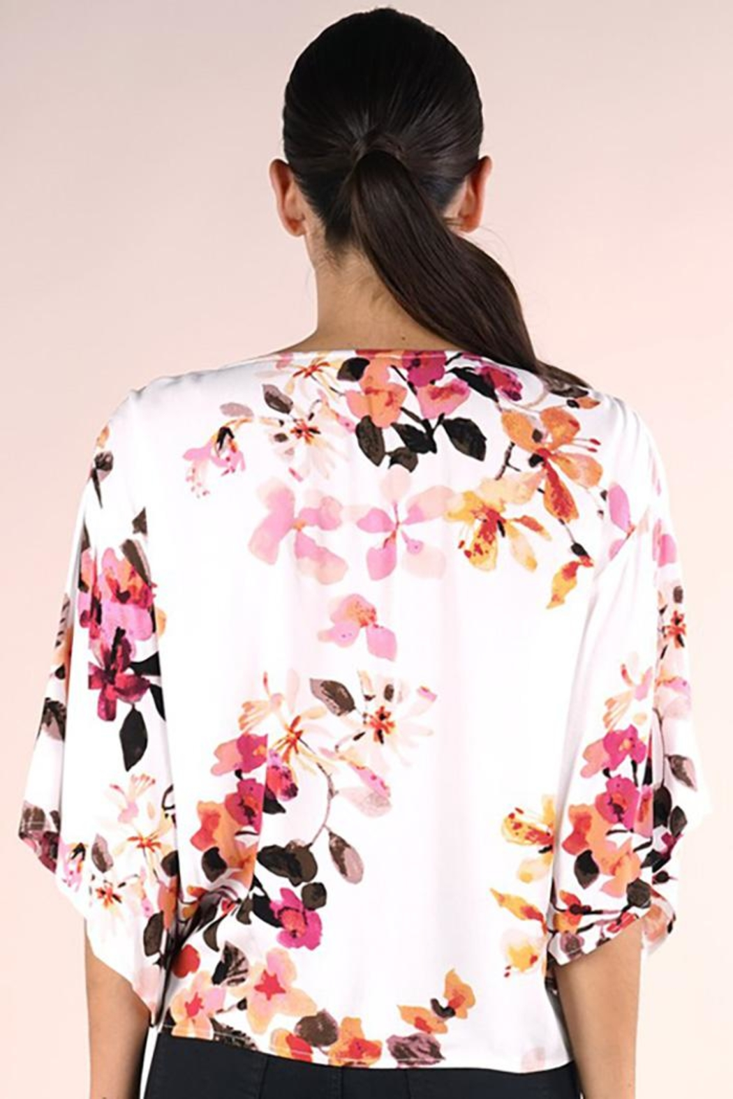 Lovestitch Printed Kimono Sleeve Top - Front Full Image