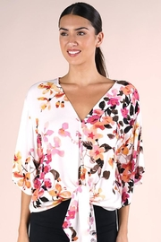 Lovestitch Printed Kimono Sleeve Top - Side cropped