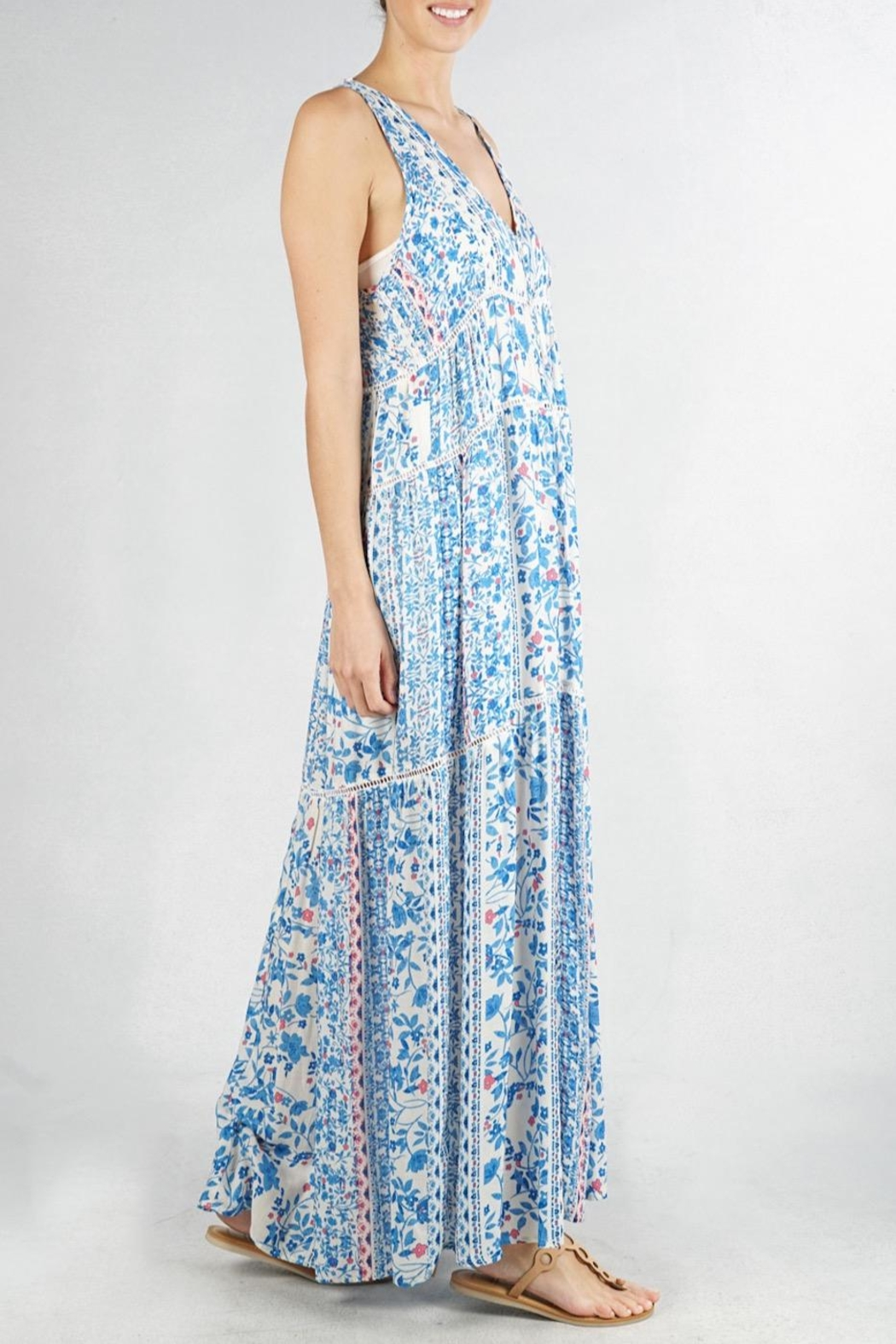 Lovestitch Printed Maxi Dress - Back Cropped Image