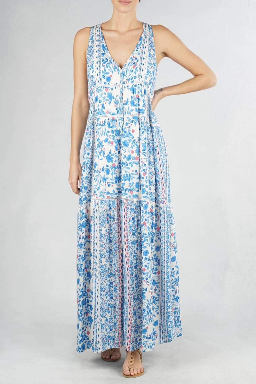 Lovestitch Printed Maxi Dress - Main Image
