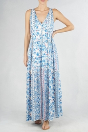 Lovestitch Printed Maxi Dress - Front cropped
