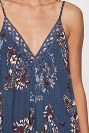 Lovestitch Printed Maxi-Dress With-Trim - Side cropped
