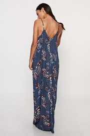 Lovestitch Printed Maxi-Dress With-Trim - Front full body