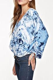Lovestitch Printed Shirred Sleeve Top - Product Mini Image