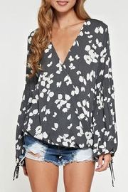 Lovestitch Printed Surplice Top - Product Mini Image