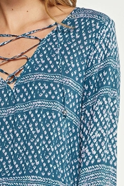 Lovestitch Printed Teal Dress - Back cropped