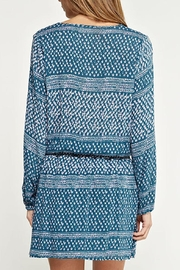 Lovestitch Printed Teal Dress - Side cropped