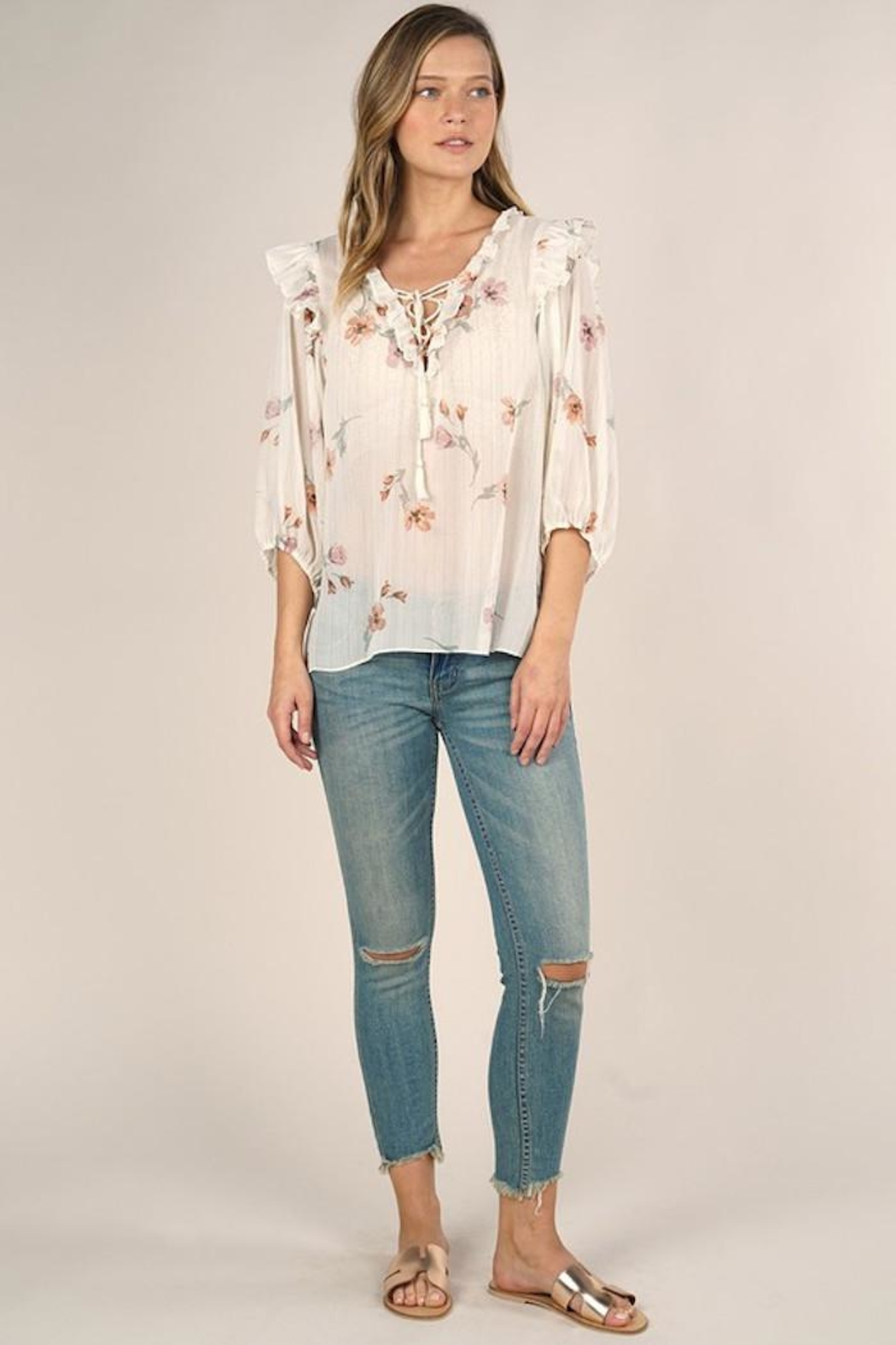Lovestitch Rohana Floral Top - Front Full Image