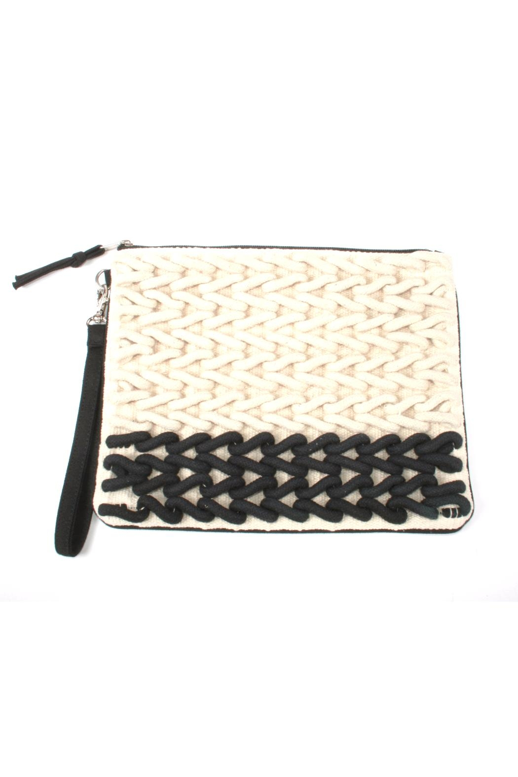 Lovestitch Rope Embroidered Clutch - Front Cropped Image