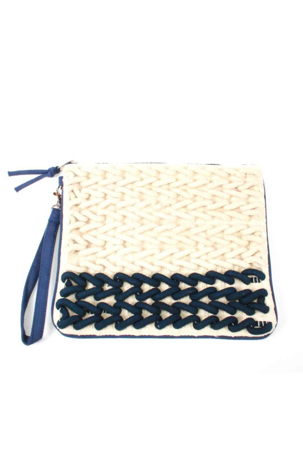 Lovestitch Rope Embroidered Clutch - Main Image