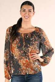 Lovestitch Shirred Neckline Floral Top - Product Mini Image