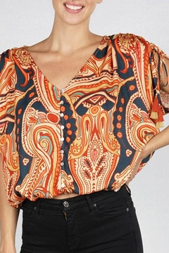 Shoptiques Product: Shirred Sleeve Top