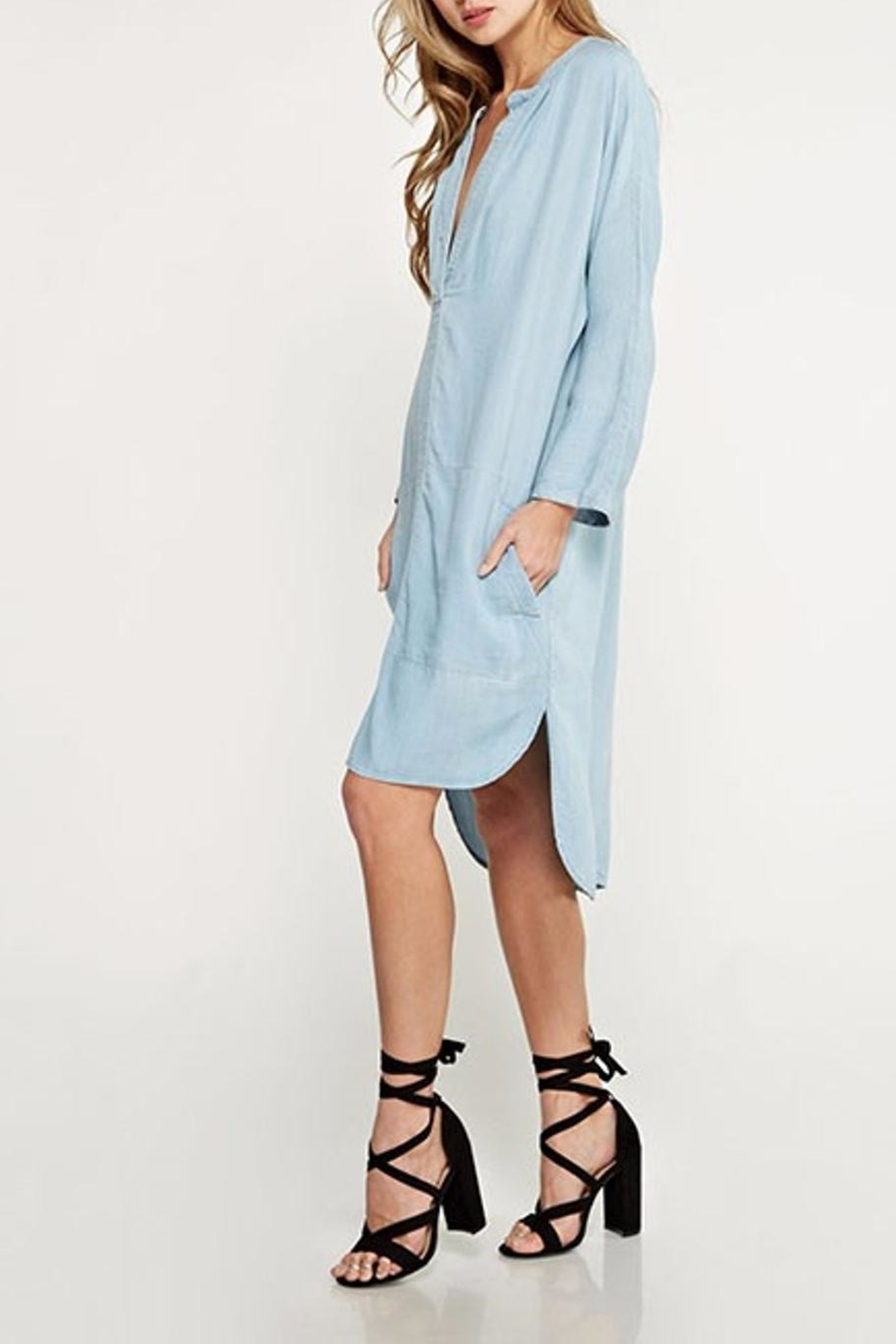 Lovestitch Shirt Dress - Back Cropped Image