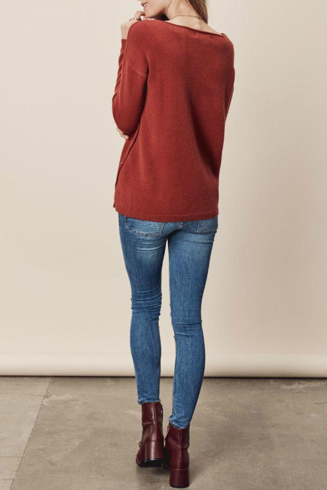 Lovestitch Side Button Sweater - Front Full Image