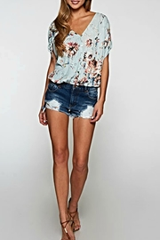 Lovestitch Eyelit Floral Blouse - Product Mini Image