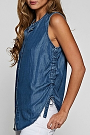 Lovestitch Sleeveless Denim Blouse - Product Mini Image
