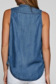 Lovestitch Sleeveless Denim Blouse - Side cropped