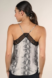 Lovestitch Snake Print Cami - Back cropped