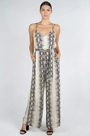 Lovestitch Snake Print Jumpsuit - Front cropped