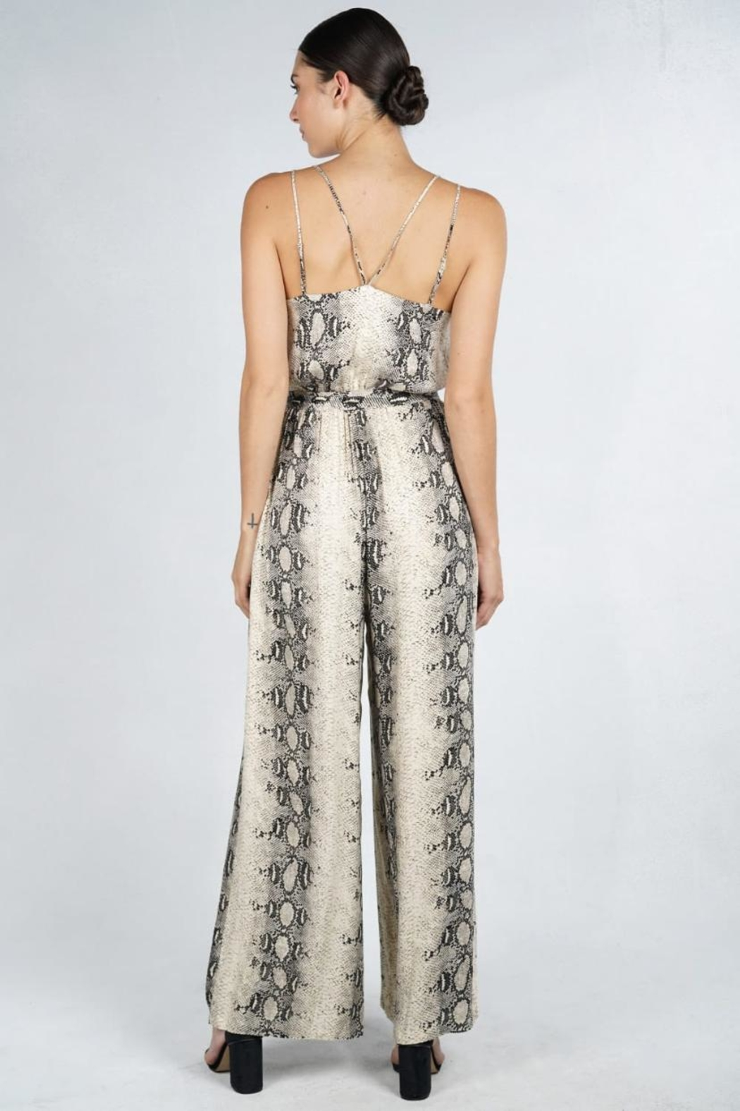 Lovestitch Snake Print Jumpsuit - Front Full Image