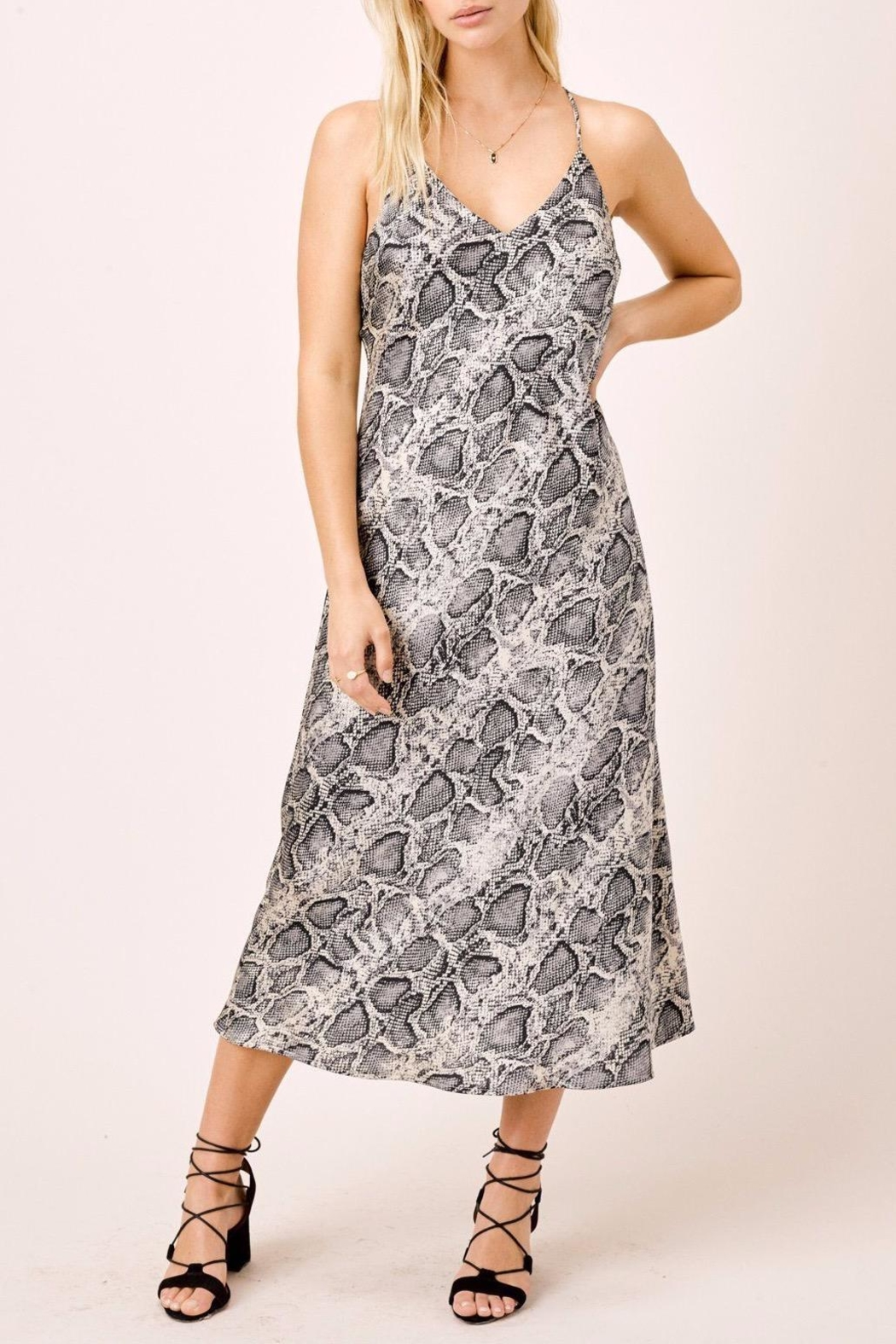 Lovestitch Snake Printed Midi - Front Cropped Image