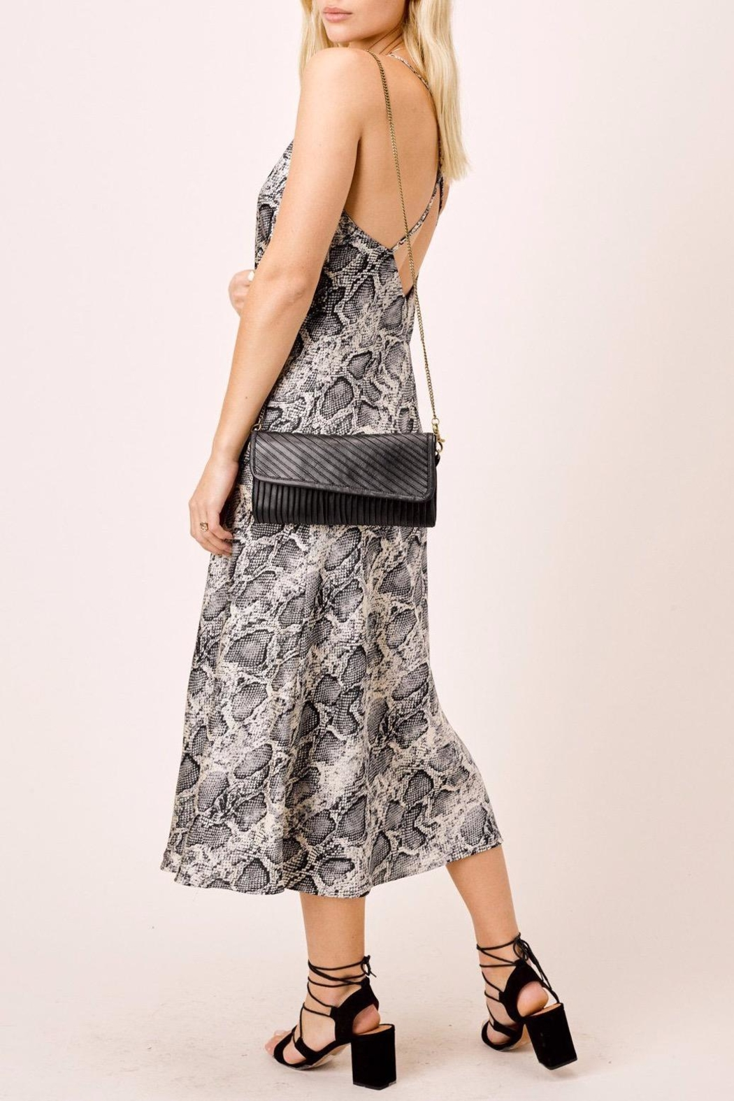 Lovestitch Snake Printed Midi - Back Cropped Image