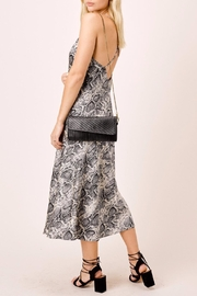Lovestitch Snake Printed Midi - Back cropped