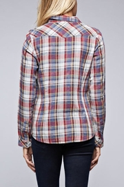 Lovestitch Snap Front Plaid - Front full body