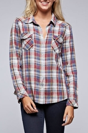 Lovestitch Snap Front Plaid - Front cropped