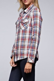 Lovestitch Snap Front Plaid - Back cropped