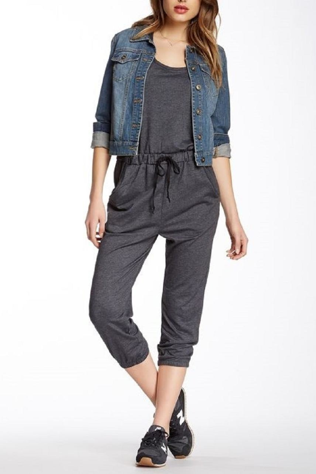Lovestitch Soft Cropped Jumpsuit - Main Image