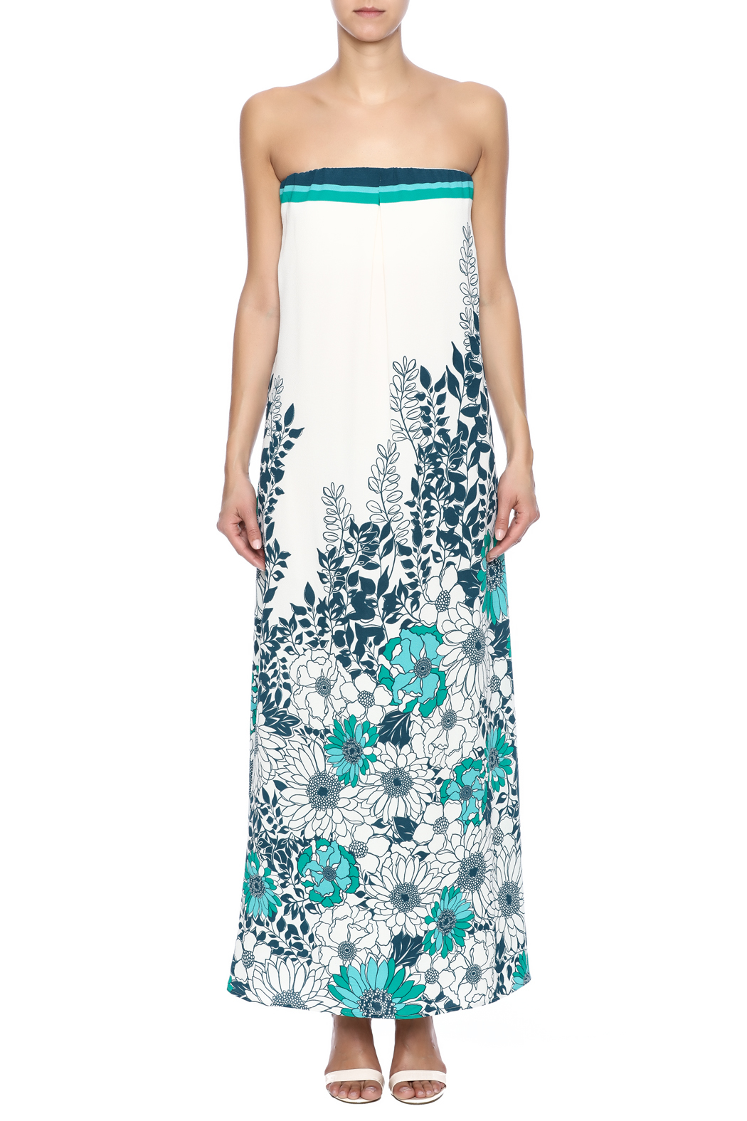 Lovestitch Strapless Floral Maxi Dress from California by ...